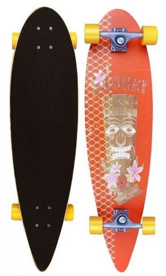 Black Dragon Longboard 36 Inch Pinchtail Oranje/Okergeel