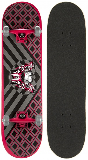 Black Dragon Skateboard Black Dragon 78 x 20 cm zwart/rood