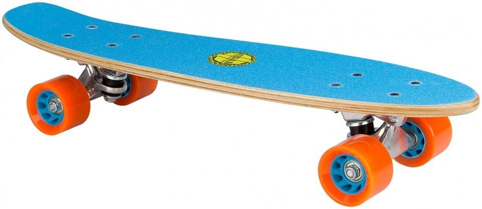 Black Dragon skateboard hout blauw/oranje/grijs 57 x 15 cm