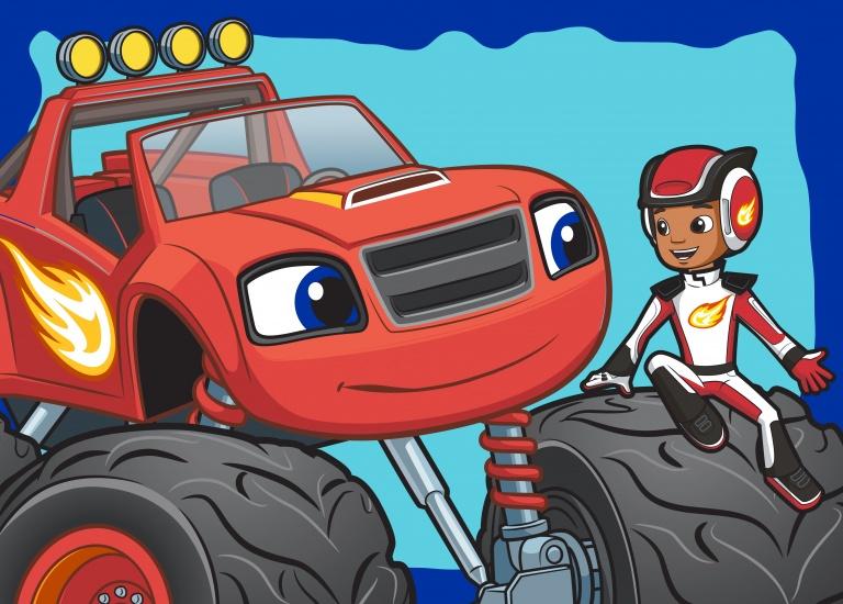 Nickelodeon Vloerkleed Blaze en AJ 95 x 133 cm