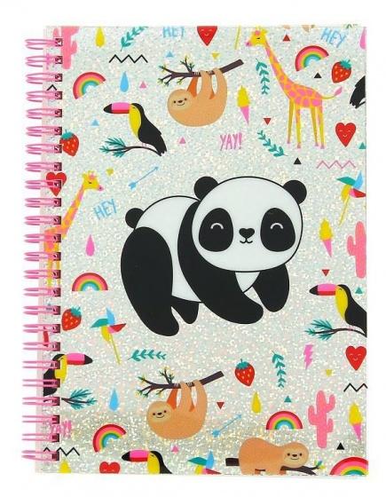 Blueprint Collections notitieboek Happy Zoo panda A5 roze kopen
