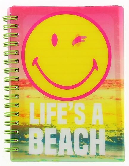 Blueprint Collections notitieboekje Smiley 15x10,5 cm roze/geel kopen
