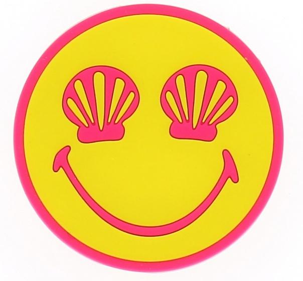 Blueprint Collections notitieboekje Smiley 8,5 cm geel/roze kopen