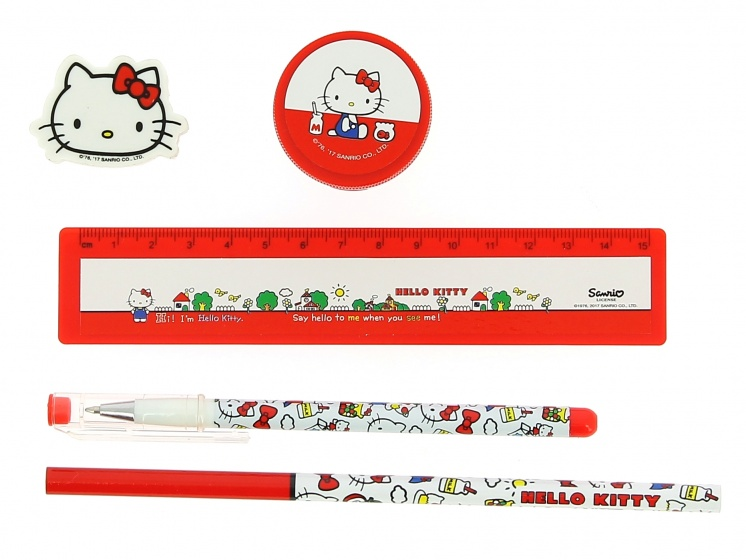 Blueprint Collections schrijfset Hello Kitty 5 delig