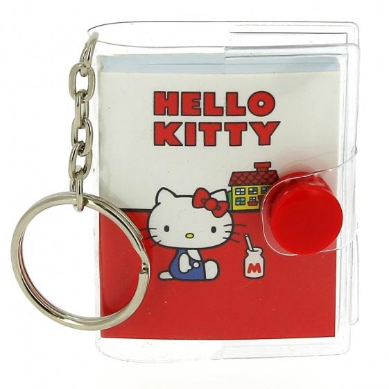 Blueprint Collections sleutelhanger notitieblok Hello Kitty 5x6 cm
