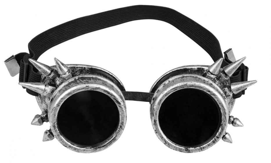 Boland bril Cyberpunk zilver/zwart kopen
