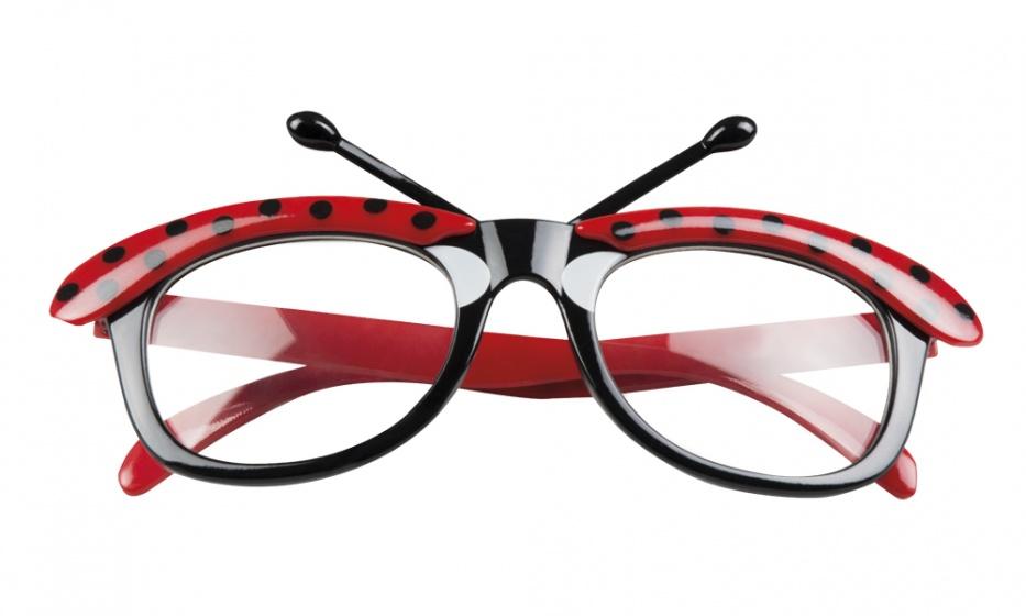 Boland bril lieveheersbeestje rood/zwart kopen