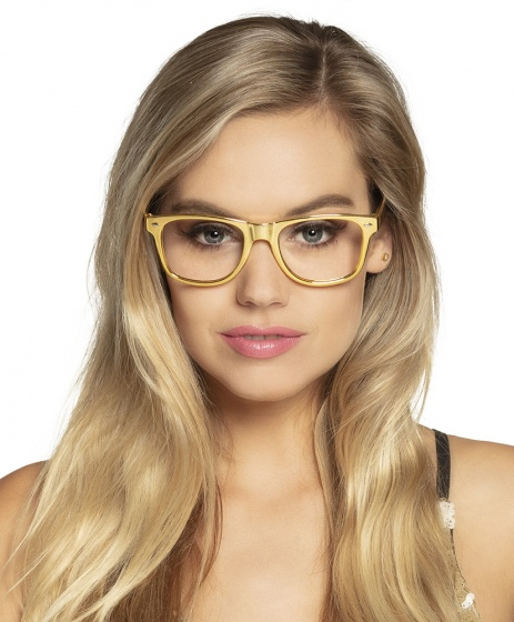 glasses party gold unisex gold