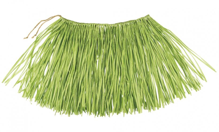 Boland Hawaiirokje Raffia groen 40 cm