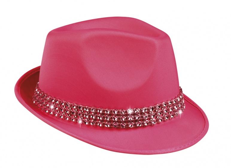 Boland hoed Popstar Diamond unisex donkerroze one size