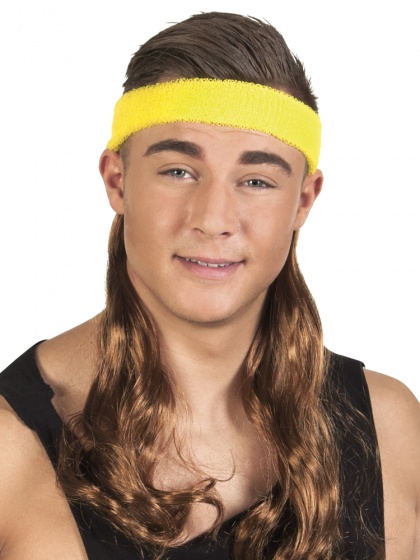 headband with hair mens brown