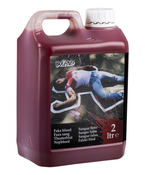 jerrycan with fake blood 2 liters
