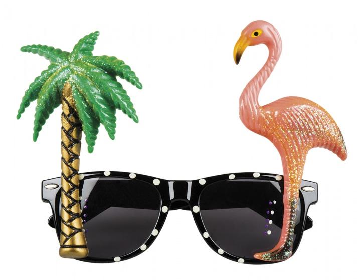 Boland partybril Hawaii unisex multicolor kopen