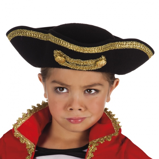 Pirate hat Joey junior 33 cm black