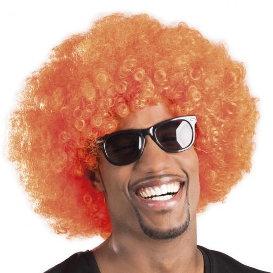 Oranje Afro Pruik Stuk