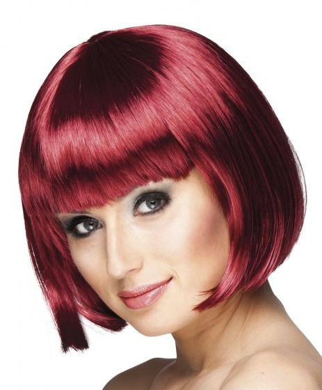 Pruik Cabaret mahogany rood