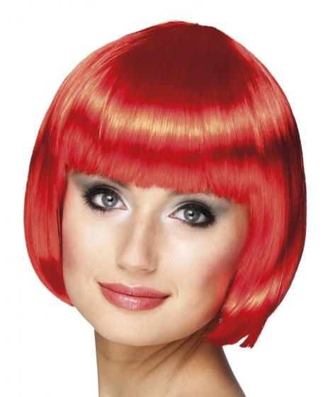 Pruik Cabaret rood