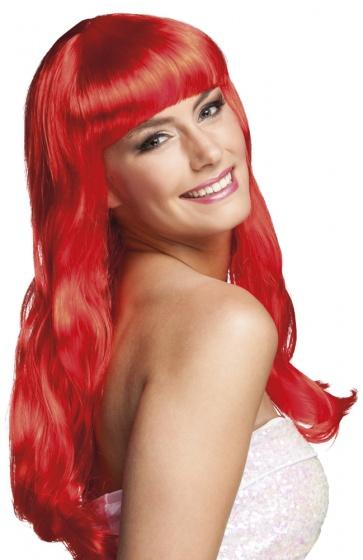 Pruik Chique rood