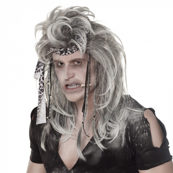 wig Ghost Savage men 29 x 19 cm polyester grey