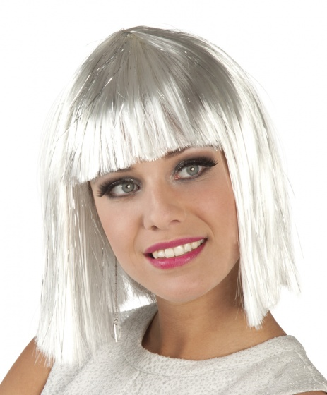 Bobline gigi glamour wit met zilveren tinsel