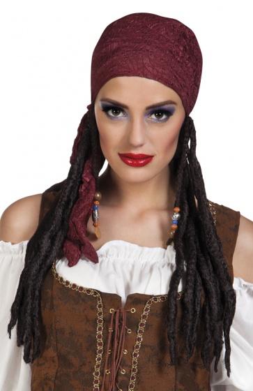 Pruik Pirate Bonnie met bandana