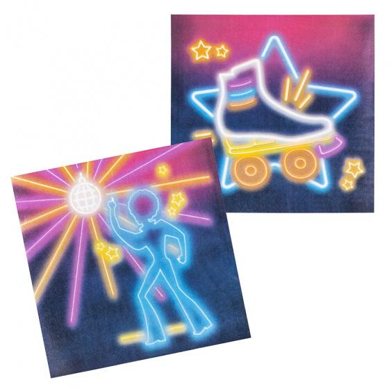 Boland servetten 'Disco fever' junior 33x33 cm papier 12 stuks