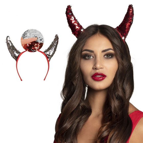 Boland tiara Devil Switch dames rood one size