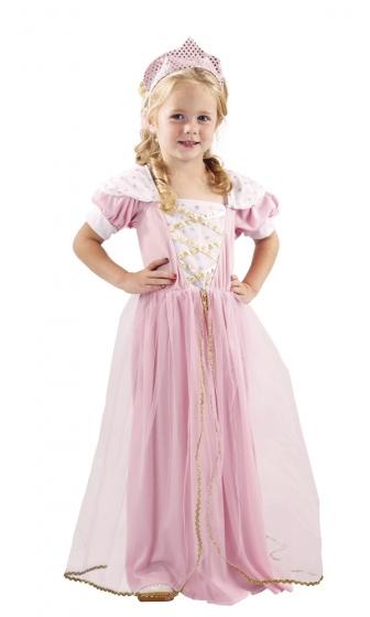 Boland verkleedjurk darling prinses meisjes roze 225097