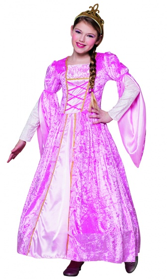 Boland verkleedjurk prinses rosanna meisjes roze 225138