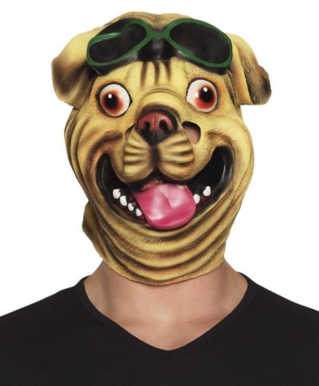 Boland verkleedmasker Bulldog unisex bruin one size