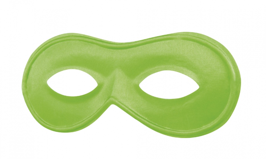 Boland verkleedmasker Neon dames groen one size