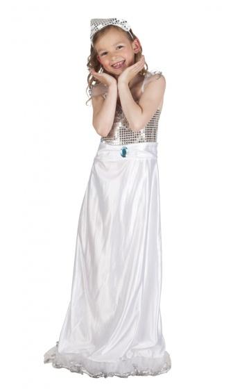 Boland verkleedpak evening prinses meisjes wit 225012