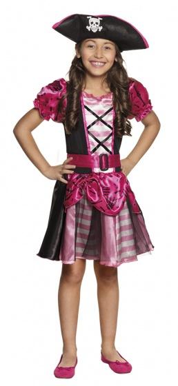 Boland verkleedpak piraat nina meisjes roze 225209