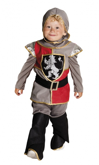 Boland verkleedpak ridder Simon jongens grijs maat 92 104