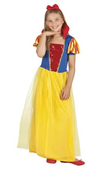 Boland verkleedpak sneeuwwitje meisjes geel 224994