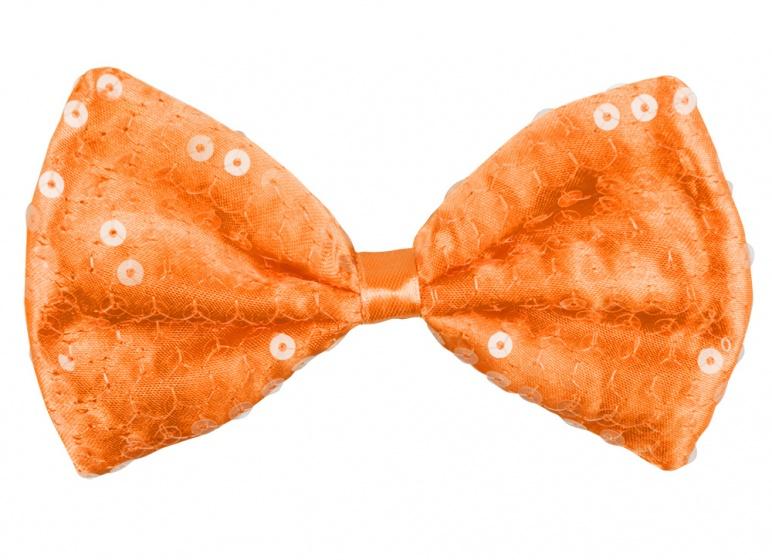 Vlinderstrik Spangles oranje