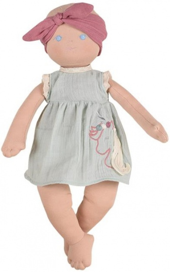 Bonikka babypop Kaia meisjes 42 cm polyester blauw-beige