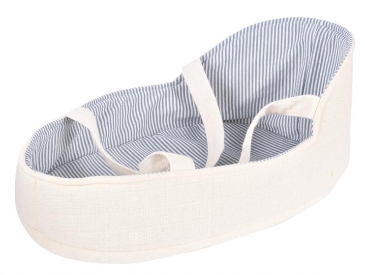 Bonikka draagwiegje babypop 18 x 28 cm polyester wit-blauw
