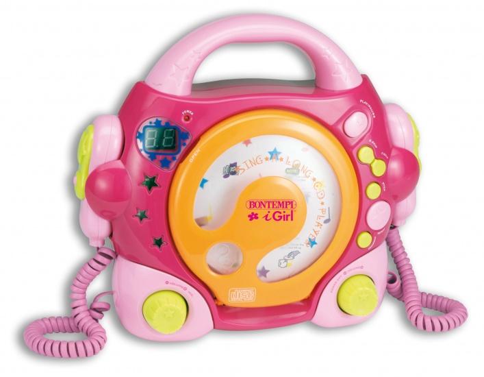 Bontempi CD speler met Microfoons Roze