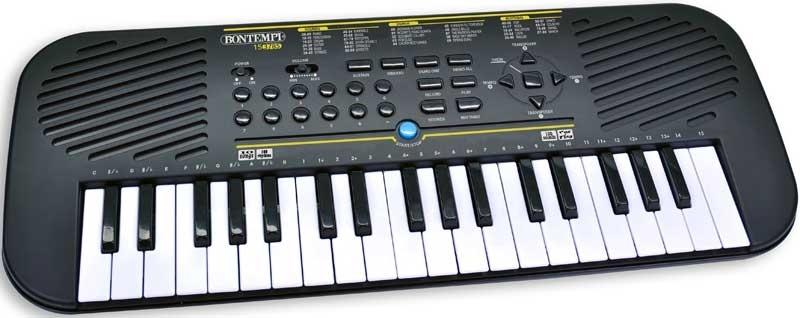 Bontempi digitaal keyboard met adaptor tas met 37 midi toetsen
