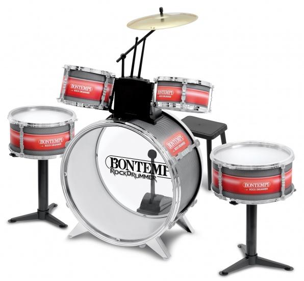 Bontempi Drumstel RockDrummer 9 delig