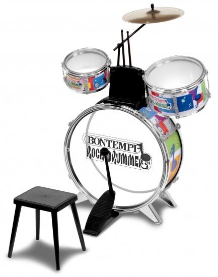 Bontempi Drumstel RockDrummer Multicolor 7 delig