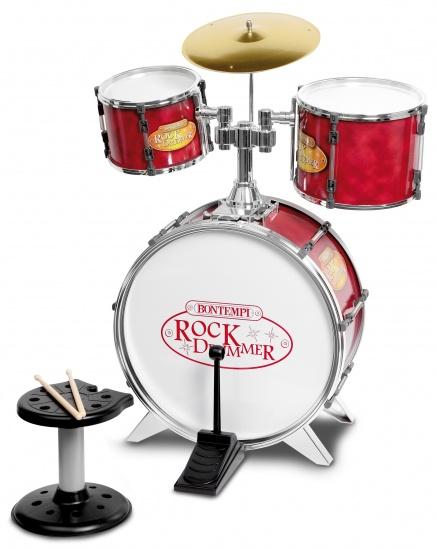 Bontempi Drumstel RockDrummer Rood 7 delig