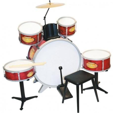 Bontempi Drumstel RockDrummer Rood 9 delig