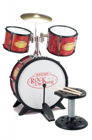 Bontempi Drumstel RockDrummer Rood/Zwart 7 delig