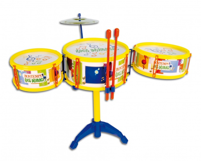 Bontempi Drumstel Toy Bans Geel