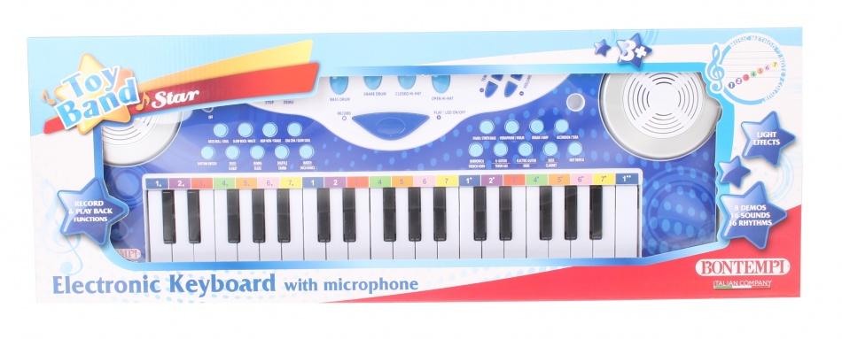 Bontempi elektronisch keyboard met microfoon 37 toetsen paars