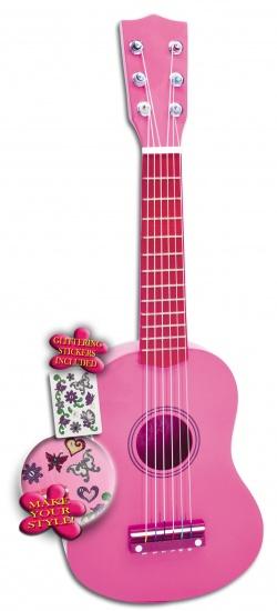 Bontempi Gitaar 6 snaren Roze 55 cm