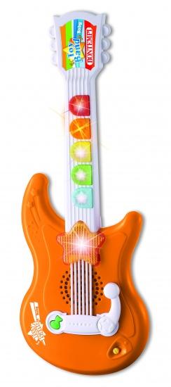 Bontempi Gitaar Elektrisch Rock Oranje