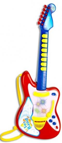 Bontempi Elektrische Rock gitaar rood/Blauw